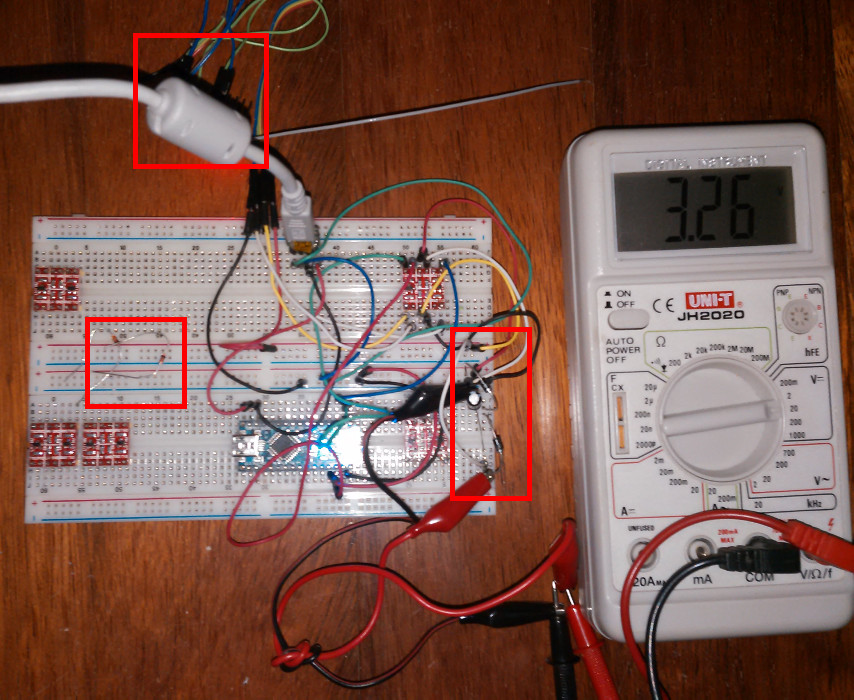 esp8266 esp201 with nano using diodes